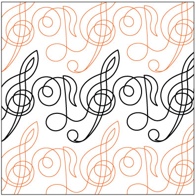 Legacy Digital Quilting Patterns : Music Quilt Pattern
