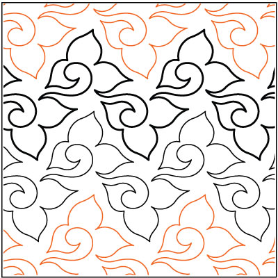 Verdant quilting pantograph pattern by Lorien Quilting : lorien quilting - Adamdwight.com