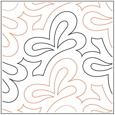 Acacia Leaves quilting pantograph sewing pattern by Lorien Quilting