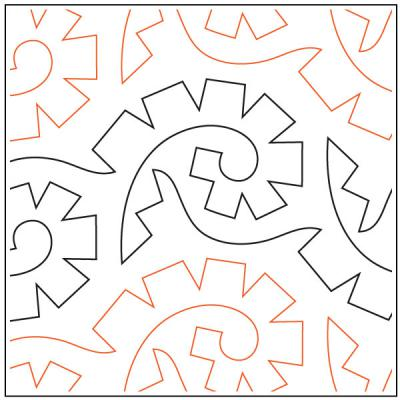 Africa quilting pantograph sewing pattern by Lorien Quilting