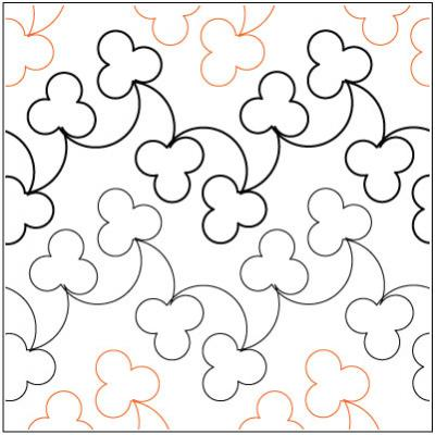 Apple Blossom quilting pantograph pattern by Lorien Quilting : lorien quilting - Adamdwight.com