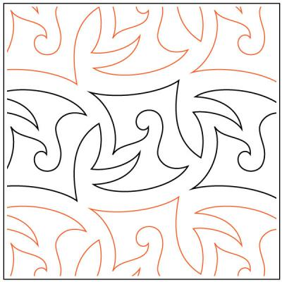 Bayonet quilting pantograph sewing pattern by Lorien Quilting