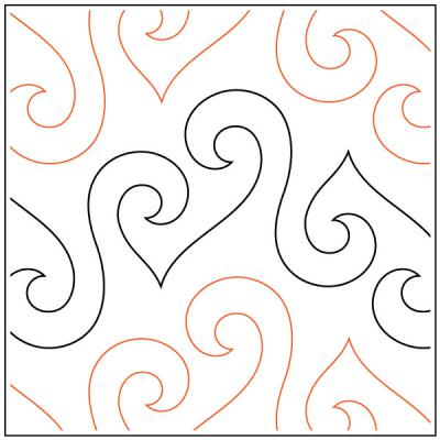 INVENTORY REDUCTION...Bouncy Curls quilting pantograph sewing pattern by Lorien Quilting
