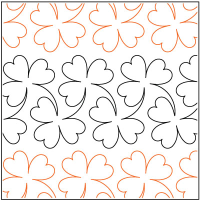 Clover quilting pantograph pattern by Lorien Quilting : clover quilting - Adamdwight.com