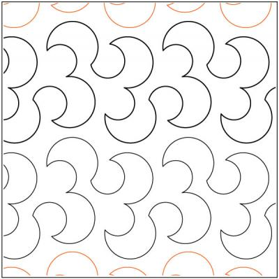 Cute Curls quilting pantograph pattern by Lorien Quilting