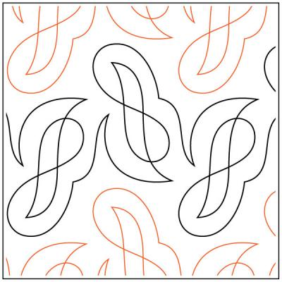Ether quilting pantograph sewing pattern by Lorien Quilting