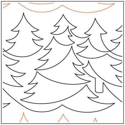 Forest quilting pantograph sewing pattern by Lorien Quilting