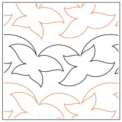 INVENTORY REDUCTION...Lepidoptera quilting pantograph sewing pattern by Lorien Quilting
