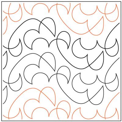 Lorein's Fuji quilting pantograph sewing pattern by Lorien Quilting