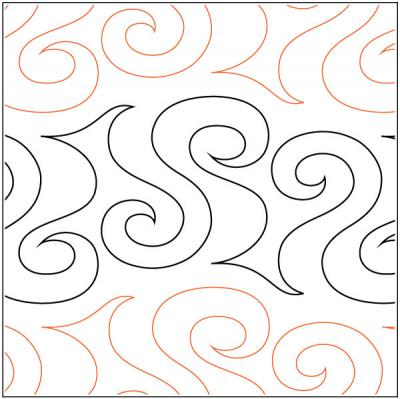 Roil quilting pantograph pattern by Lorien Quilting