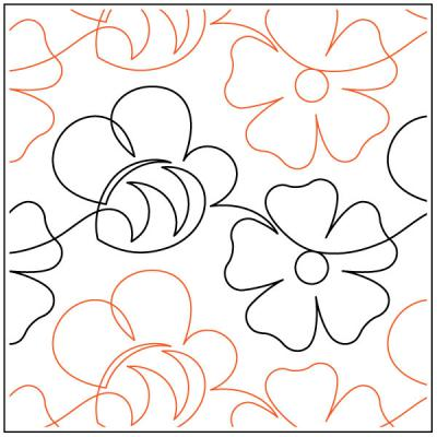Spring-Honey-quilting-pantograph-pattern-Lorien-Quilting