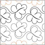 Abundant Leaves quilting pantograph pattern by Lorien Quilting