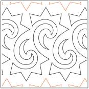 Astronomy quilting pantograph sewing pattern by Lorien Quilting