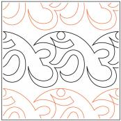 Aum quilting pantograph sewing pattern by Lorien Quilting