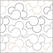 Billowy quilting pantograph pattern by Lorien Quilting