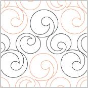 Bubbles quilting pantograph pattern by Lorien Quilting