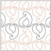 Candle quilting pantograph sewing pattern by Lorien Quilting