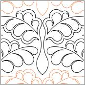 Damask Feathers quilting pantograph pattern by Lorien Quilting