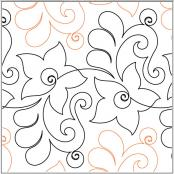 INVENTORY REDUCTION...Hollyhock quilting pantograph pattern by Lorien Quilting