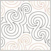 Lorien's Coil quilting pantograph sewing pattern by Lorien Quilting
