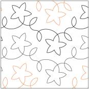 Star Light quilting pantograph pattern by Lorien Quiltin