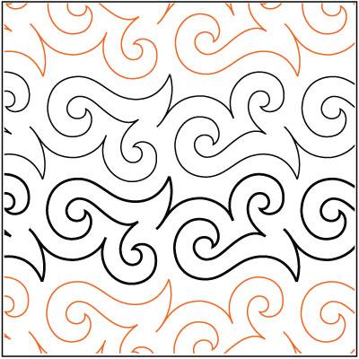 Page Boy pantograph pattern by Patricia Ritter of Urban Elementz