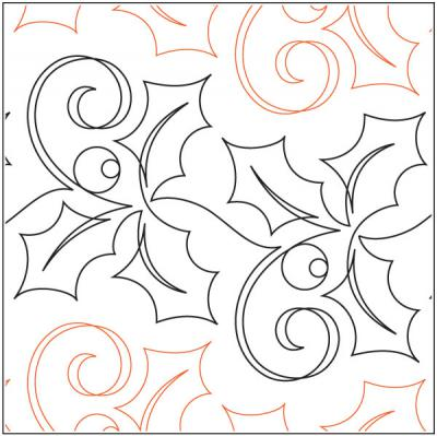 Holiday Garland quilting pantograph pattern by Patricia Ritter of Urban Elementz