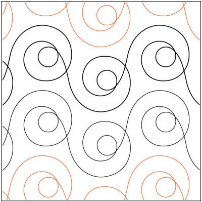 Mod Dotz quilting pantograph sewing pattern by Patricia Ritter of Urban Elementz