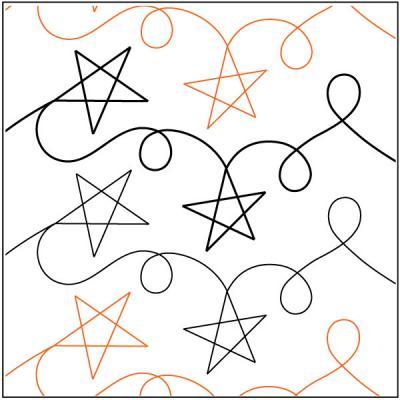 Starz pantograph pattern by Patricia Ritter of Urban Elementz