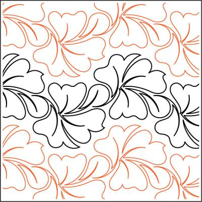 INVENTORY REDUCTION...Arugula Petite quilting pantograph pattern by Patricia Ritter of Urban Elementz