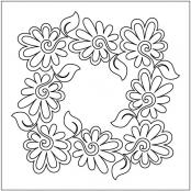 Painted-Daisies-Block-1-pantograph-quilting-pattern-Patricia-Ritter-Valerie-Smith