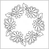 Painted-Daisies-Block-2-pantograph-quilting-pattern-Patricia-Ritter-Valerie-Smith