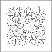 Painted-Daisies-Block-3-pantograph-quilting-pattern-Patricia-Ritter-Valerie-Smith