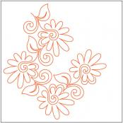 Painted-Daisies-Corner-pantograph-quilting-pattern-Patricia-Ritter-Valerie-Smith-1