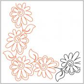 Painted-Daisies-Petite-Corner-pantograph-quilting-pattern-Patricia-Ritter-Valerie-Smith-1