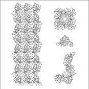 Painted-Daisies-Petite-SET-pantograph-quilting-pattern-Patricia-Ritter-Valerie-Smith