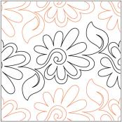 Painted-Daisies-Petite-pantograph-quilting-pattern-Patricia-Ritter-Valerie-Smith