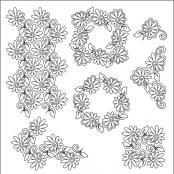 Painted-Daisies-SET-pantograph-quilting-pattern-Patricia-Ritter-Valerie-Smith