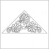 Painted-Daisies-Triangle-Block-1-pantograph-quilting-pattern-Patricia-Ritter-Valerie-Smith