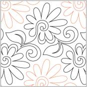 Painted-Daisies-pantograph-quilting-pattern-Patricia-Ritter-Valerie-Smith