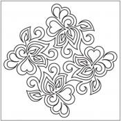 Sonnet-Block-2-pantograph-quilting-pattern-Patricia-Ritter-Valerie-Smith