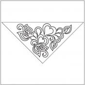 Sonnet-Triangle-Block-1-pantograph-quilting-pattern-Patricia-Ritter-Valerie-Smith
