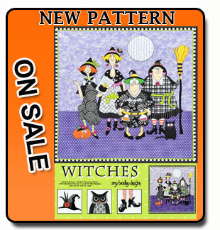 Amy Bradley designs Witches sewing pattern banner